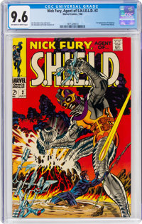 Nick Fury, Agent of S.H.I.E.L.D. #2 (Marvel, 1968) CGC NM+ 9.6 Off-white to white pages