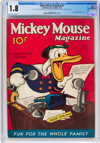 Mickey Mouse Magazine #8 (Walt Disney Productions, 1936) CGC GD- 1.8 Cream to off-white pages