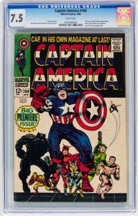 Captain America #100 (Marvel, 1968) CGC VF- 7.5 White pages