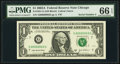Small Size:Federal Reserve Notes, Low Serial Number 3 Fr. 1931-G $1 2003A Federal Reserve Note. PMG Gem Uncirculated 66 EPQ.. ...