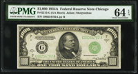 Fr. 2212-G $1,000 1934A Federal Reserve Note. PMG Choice Uncirculated 64 EPQ
