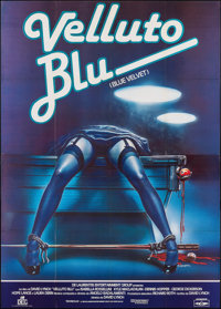 "Blue Velvet (DEG, 1986). Folded, Very Fine/Near Mint. Italian 4 - Fogli (55"" X 78"") Enzo Sciotti Artwork. Dram..."