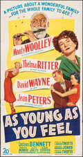 """Movie Posters:Comedy, As Young As You Feel (20th Century Fox, 1951). Folded, Fine+. Three Sheet (41"""" X 79""""). Comedy.. ..."""