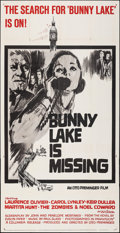 """Movie Posters:Mystery, Bunny Lake is Missing (Columbia, 1965). Folded, Very Fine-. Three Sheet (41"""" X 79""""). Mystery.. ..."""