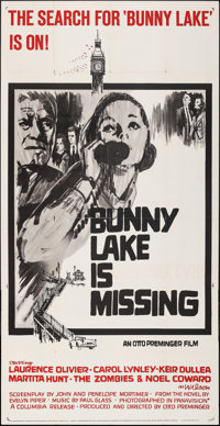 """Bunny Lake is Missing (Columbia, 1965). Folded, Very Fine-. Three Sheet (41"""" X 79""""). Mystery"""