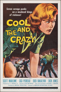 "The Cool and the Crazy (American International, 1958). Flat Folded, Very Fine. One Sheet (27"" X 41""). Bad Girl..."