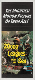 "Movie Posters:Science Fiction, 20,000 Leagues Under the Sea (Buena Vista, R-1971). Folded, Very Fine/Near Mint. Australian Daybill (13"" X 30""). Bruc..."