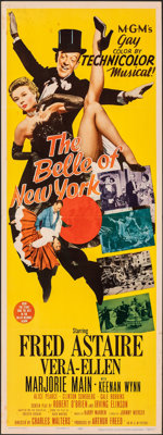 """The Belle of New York (MGM, 1952). Folded, Fine/Very Fine. Insert (14"""" X 36""""). Musical"""