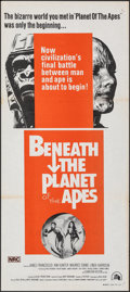 "Movie Posters:Science Fiction, Beneath the Planet of the Apes (20th Century Fox, R-1970s). Folded, Fine/Very Fine. Australian Daybill (13.25"" X 30"")..."