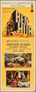 "Movie Posters:Academy Award Winners, Ben-Hur (MGM, 1959). Folded, Very Fine-. Insert (14"" X 36""). Joseph Smith Artwork. Academy Award Winners.. ..."
