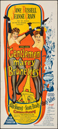 "Movie Posters:Musical, Gentlemen Marry Brunettes (United Artists, 1955). Folded, Very Fine-. Australian Daybill (13.5"" X 30""). Musical.. ..."