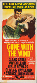 """Movie Posters:Academy Award Winners, Gone with the Wind (MGM, R-1961). Folded, Very Fine-. Australian Daybill (13.5"""" X 30""""). Academy Award Winners.. ..."""