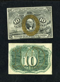 Fractional Currency:Second Issue, Fr. 1244SP 10c Second Issue Narrow Margin Pair Very Choice New.... (Total: 2 notes)