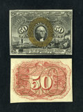 Fractional Currency:Second Issue, Fr. 1314SP 50c Second Issue Narrow Margin Pair Very Choice New.... (Total: 2 notes)