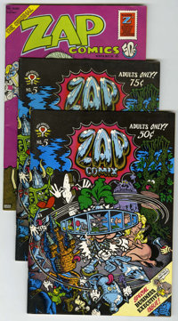 Zap Comix #5-8 Group (Apex Novelties, 1973) Condition: Average VF.... (Total: 5 Comic Books)