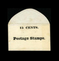 Fractional Currency:First Issue, Postage Stamp Envelope 15¢ Uncirculated....