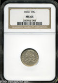Bust Dimes: , 1834 Small 4 MS64 NGC. The current Coin Dealer ...