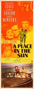 Movie Posters:Drama, A Place in the Sun (Paramount, 1951). Folded, Fine/Very Fi...