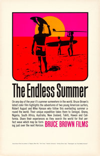 """The Endless Summer (Bruce Brown Films, 1966). Rolled, Very Fine/Near Mint. First Release Poster (11"""" X 17""""). J..."""
