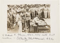 Photography:Signed, Japanese Surrender in Tokyo Bay: Chester Nimitz Photograph Inscribed and Signed...