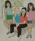 Prints & Multiples, Alice Neel (1900-1984). The Family, 1982. Lithograph in colors on Arches paper. 31-1/2 x 27 inches (80 x 68.6 cm) (sheet...