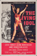 "Movie Posters:Adventure, The Living Idol (MGM, 1956). Folded, Very Fine-. One Sheet (27"" X 41""). Adventure.. ..."