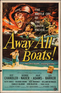 Movie Posters:War, Away All Boats & Other Lot (Universal International, 1956). Folded, Fine/Very Fine. One Sheets (2) & Autographed One Sheet (... (Total: 3 Items)