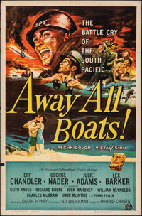 Away All Boats & Other Lot (Universal International, 1956). Folded, Fine/Very Fine. One Sheets (2) & Autographed...