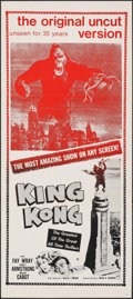 "Movie Posters:Horror, King Kong (Janus, R-1968). Folded, Very Fine-. Australian Daybill (13.25"" X 30""). Horror.. ..."