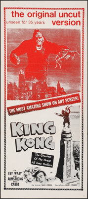 "King Kong (Janus, R-1968). Folded, Very Fine-. Australian Daybill (13.25"" X 30""). Horror"