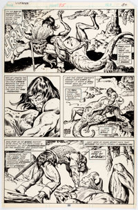 John Buscema and Ernie Chan Conan the Barbarian #95 Story Page 16 Original Art (Marvel, 1979