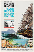 """Movie Posters:Adventure, Mutiny on the Bounty (MGM, 1962). Folded, Very Fine. One Sheet (27"""" X 41"""") Style B. Reynold Brown Artwork. Adventure.. ..."""