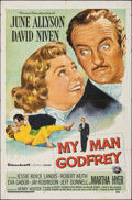 "Movie Posters:Comedy, My Man Godfrey & Other Lot (Universal International, 1957). Folded, Overall: Fine/Very Fine. One Sheets (2) (27"" X 41..."