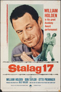 "Movie Posters:War, Stalag 17 (Paramount, R-1959). Folded, Fine+. One Sheet (27"" X 41""). War.. ..."