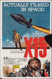 "X-15 (United Artists, 1961). Folded, Very Good/Fine. One Sheet (27"" X 41""). Adventure"
