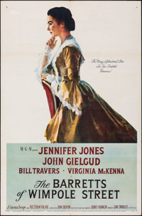 """The Barretts of Wimpole Street & Other Lot (MGM, 1957). Folded, Overall: Fine/Very Fine. One Sheets (2) (27"""" X..."""