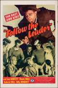 """Movie Posters:Comedy, Follow the Leader (Monogram, 1944). Folded, Fine/Very Fine. One Sheet (27"""" X 41""""). Comedy.. ..."""