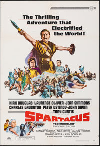 "Spartacus (Universal, R-1967). Folded, Very Fine-. One Sheet (27"" X 41""). Action"