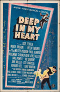 "Movie Posters:Musical, Deep in My Heart (MGM, 1954). Folded, Fine/Very Fine. One Sheet (27"" X 41""). Musical.. ..."