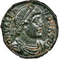 Ancients:Roman Imperial, Ancients: Valens, Eastern Roman Empire (AD 364-378). AE 3 or nummus (18mm, 2.12 gm, 6h). NGC MS 5/5 - 5/5. ...