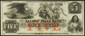 Obsoletes By State:New Hampshire, Rollinsford, NH- Salmon Falls Bank $5 18__ G14a Remainder Choice Crisp Uncirculated.. ...
