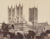 Unknown Artist (19th Century) Lincoln Cathedral, Lincoln, England Albumen 6-3/8 x 8-1/2 inches (16.2 x 21.6 cm)