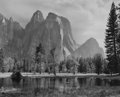 Photographs, Ansel Adams (American, 1902-1984). Cathedral Spires and Rocks, Late Afternoon, Yosemite National Park, California, circa...