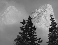 Ansel Adams (American, 1902-1984) Eagle Peak and Middle Brother, Winter, Yosemite National Park, California