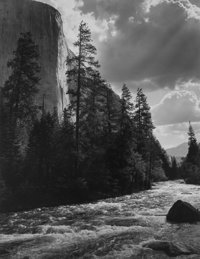 Ansel Adams (American, 1902-1984) El Capitan, Merced River, Clouds, Yosemite National Park, California