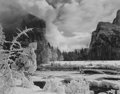 Photographs, Ansel Adams (American, 1902-1984). Gates of the Valley, Winter, Yosemite Valley, California, circa 1938. Gelatin silver,...
