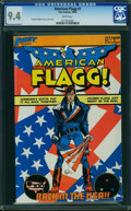 Modern Age (1980-Present):Science Fiction, American Flagg #1 (First Comics, 1983) CGC NM 9.4 White pages.