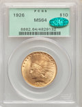 1926 $10 MS64 PCGS. CAC. PCGS Population: (4285/505). NGC Census: (4606/647). CDN: $1,000 Whsle. Bid for NGC/PCGS MS64...