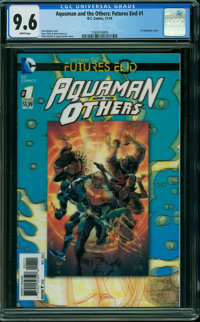 Aquaman and the Others: Futures End 1 3-D Cover (DC, 2014) CGC NM+ 9.6 White pages