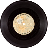 """The Beatles """"Love Me Do"""" Original UK Pressing Acetate 45 Single With """"1-2-3-4"""" Count-In (Parlophone..."""